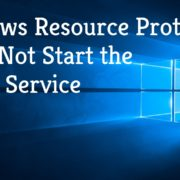 windows resource protection coud not start the repair services