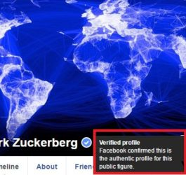 how to verify facebook page with blue tick