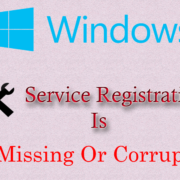 windows service registration missing or corrupt