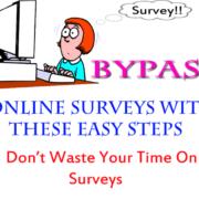 bypass online surveys survey remover