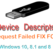 [FIX] Unknown USB Device Descriptor Request Failed