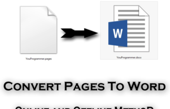 Convert Pages To Word Online and offline