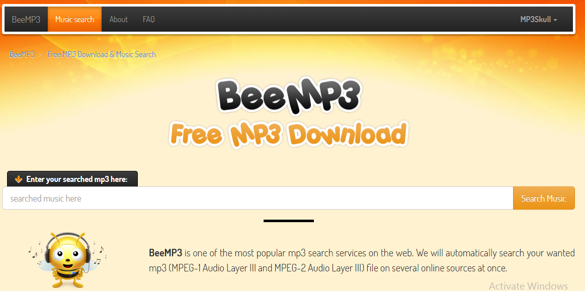 bee mp3 music download site