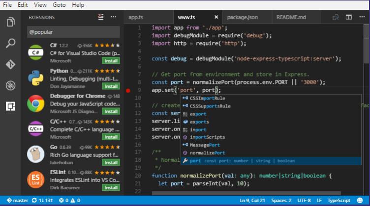 visual studio code python ide