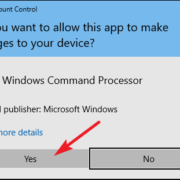windows 10 adminacmd confirmation box