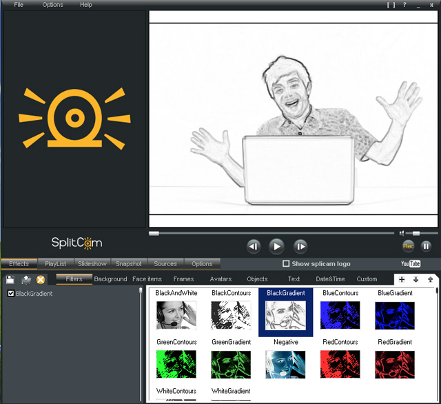 Splitcam Best webcam software