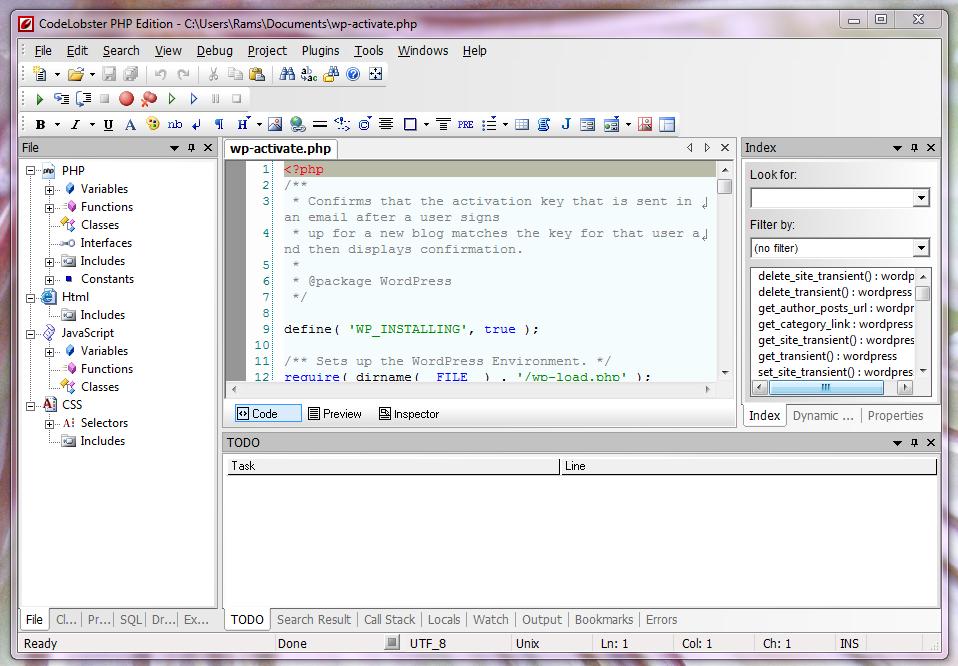 Codelobster web development