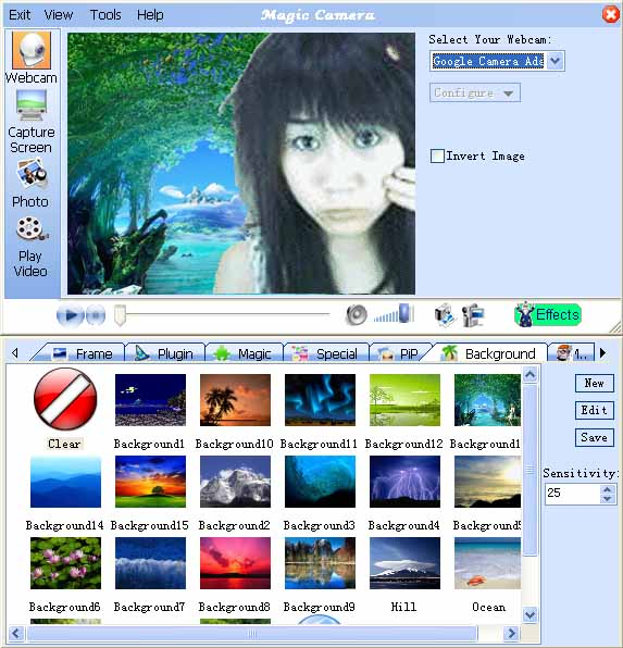 magic camera webcam software
