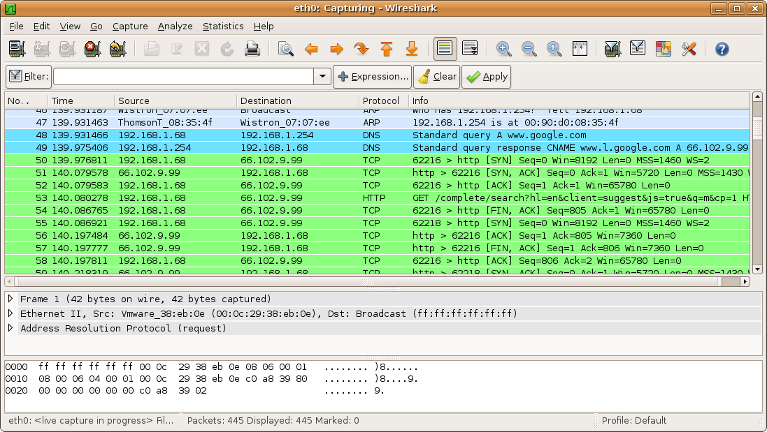 wireshark tool for hacking
