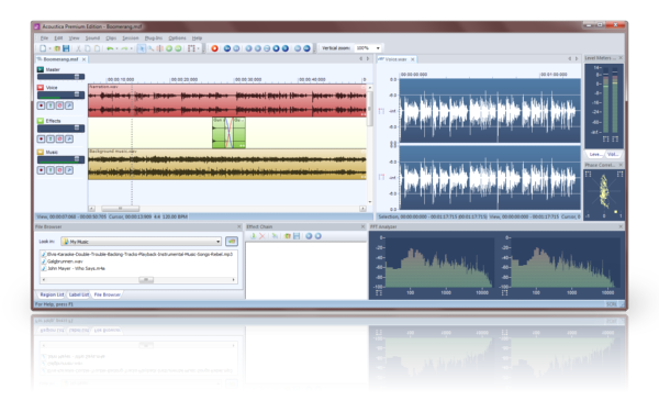 advance audio editor software list