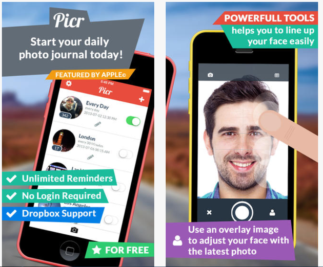 Picr selfie camera app for iphone users