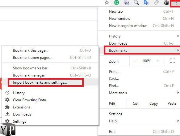 bookmarks transfer from firefox to chrome browser