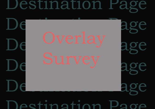 Bypass Overlay Survey
