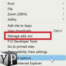 change internet explorer settings