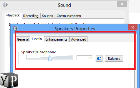 check sound levels
