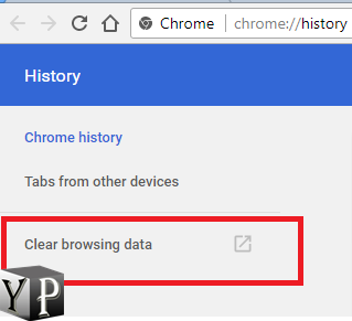 clear cached data chrome