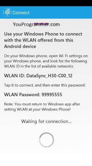 clone data to Windows Phone