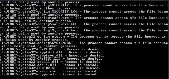 delete system 32 windows xp cmd