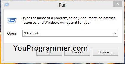 run %temp%