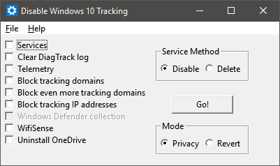 disable windows 10 elemetry