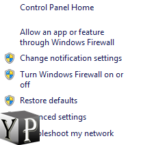 disable windows firewall