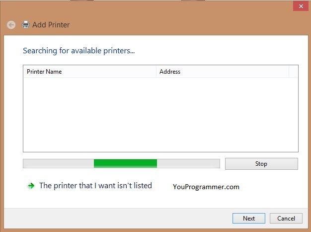 add printer windows