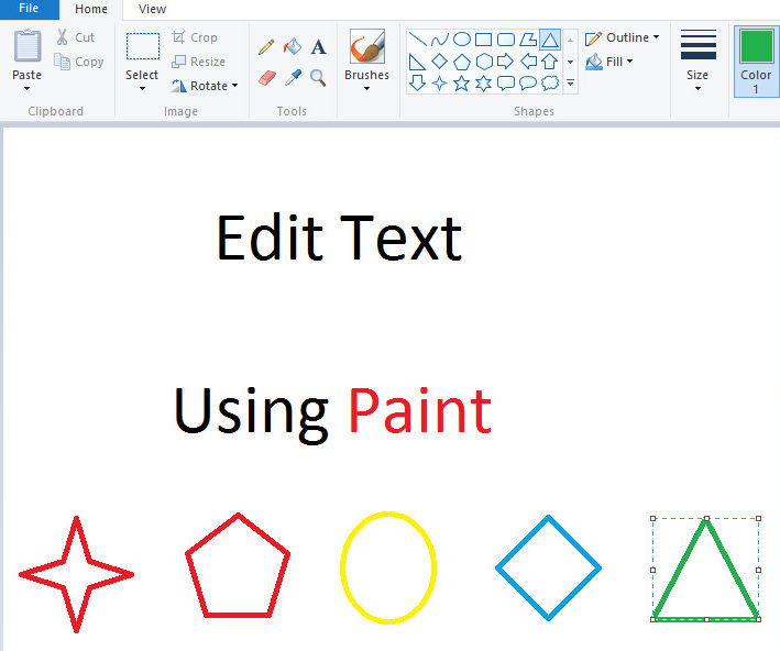 Edit Text Using Paint Youprogrammer
