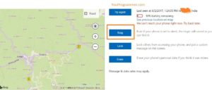 find location of lost windows phone