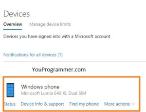 find your lost windows phone