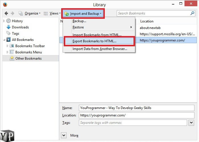 firefox to chrome bookmarks transfer