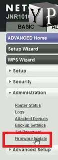 firmware update in netgear