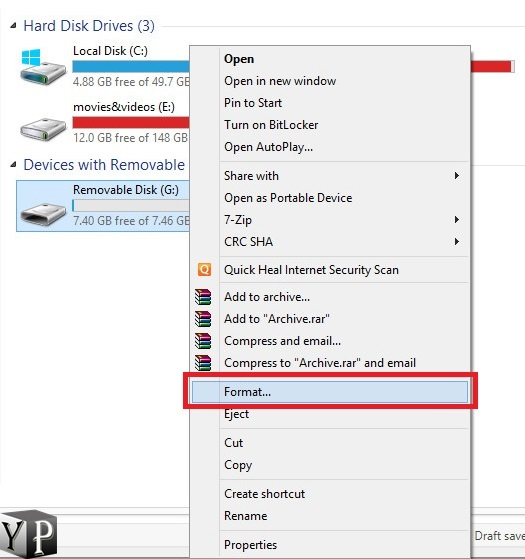 how to change usb to fat32 windows 10