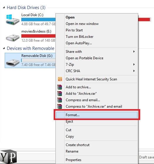 how to format usb to fat32 file system youprogrammer. Black Bedroom Furniture Sets. Home Design Ideas
