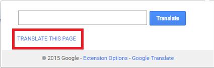 google translator extension - change language in chrome