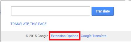 google translator extension