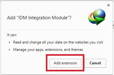 how to add idm to chrome