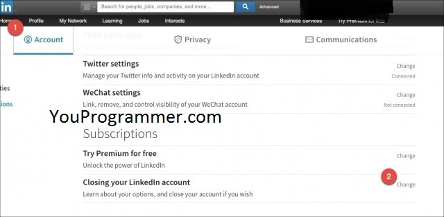 view account information linkedin