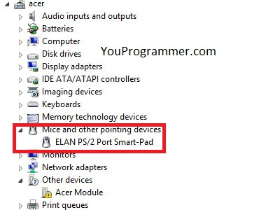 how to enable touchpad