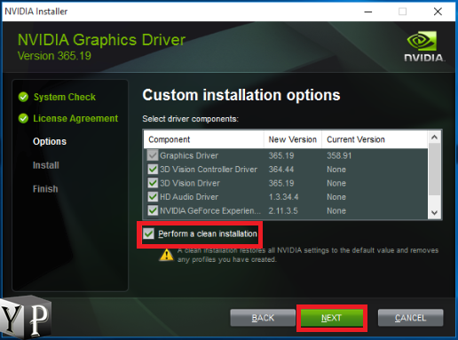 how to fix nvidia driver installation failed