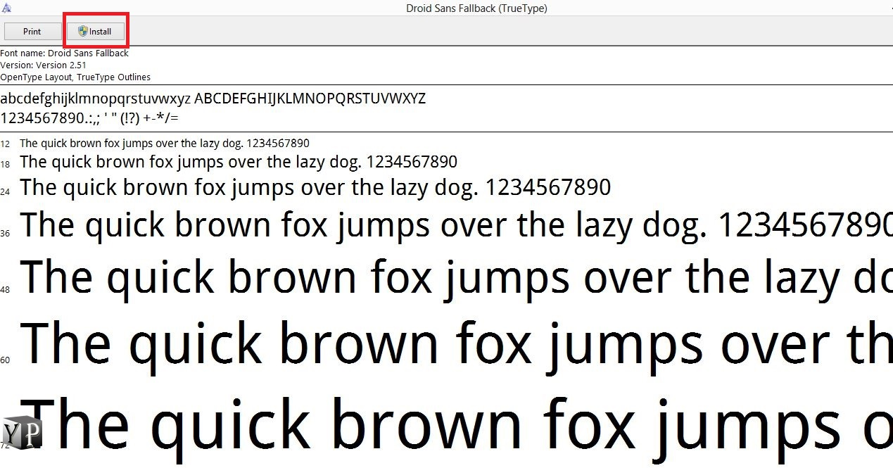 install font on windows 10