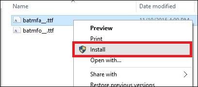 install font windows