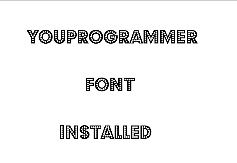 install new fonts in windows