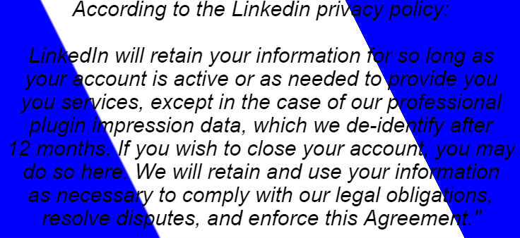 linked privacy policy