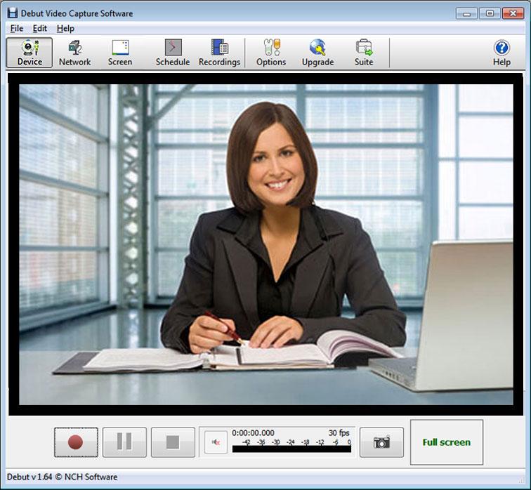 Debut webcam screen recorder