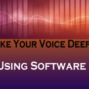 make your voice deeper