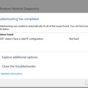 no valid ip configuration