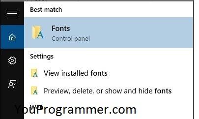 install fonts windows 10
