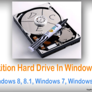 partition hard drive using command prompt