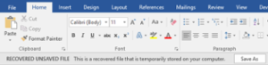 recover unsaved word document without recovery software