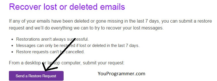 recovery emails yahoo step by step